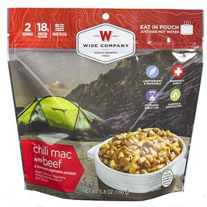 Wise Company Freeze Dried Entrée Dish Chili Mac with Beef 2 Servings