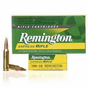 Remington Express 7mm-08 Rem 120 Grain HP 20 Round Box