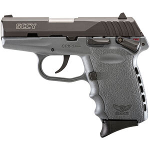 """SCCY Industries CPX-1 Semi Auto Handgun 9mm Luger 3.1"""" Barrel 10 Rounds Gray Polymer Frame with Black Nitride Finish"""