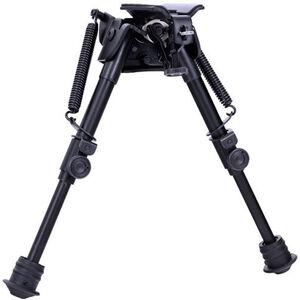 "Aimtech Tactical Bi-Pod with Lever Locking Pivot Sling Swivel Mount 9"" to 13"" Aluminum Black"