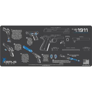 "Cerus Gear 1911 Instructional ProMat Handgun Size 12""x27"" Synthetic Grey/Blue"