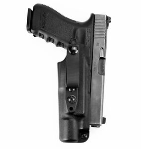 Raven Concealment Vanguard 3 Light Compatible Holster For Firearms With Surefire X300 Ultra A/B IWB Holster Soft Loop/Strut Ambidextrous Black
