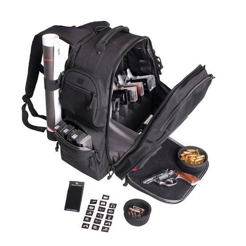 G-Outdoors The Executive Backpack Five Handguns Nylon Blk