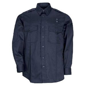 5.11 Tactical Men's Twill Class A Long Sleeve Shirt Extra Large/Tall Midnight Navy 72344