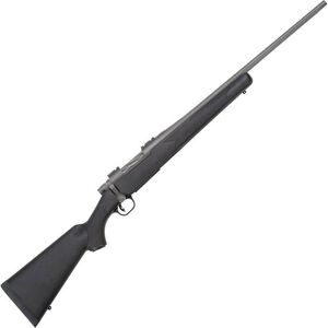 "Mossberg Patriot Synthetic Bolt Action Rifle 7mm-08 Rem 22"" Fluted Barrel 4 Rounds Black Synthetic Stock Cerakote Stainless Finish"