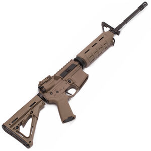 """Spikes Tactical ST-15 M4 LE Carbine AR-15 Semi Auto Rifle .223 Rem/5.56mm NATO 16"""" Barrel Magpul MOE Polymer Handguard A2 Front Sight Base Magpul CTR Polymer Stock FDE STR5025-M4F"""