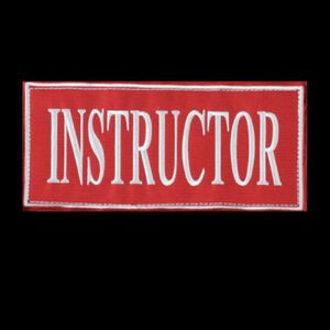 """Voodoo Instructor Patch Red 9""""x4.13:"""