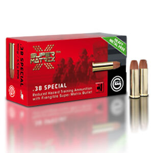 GECO Super Matrix .38 Special Ammunition 50 Rounds 100 Grain Frangible Super Matrix Projectile