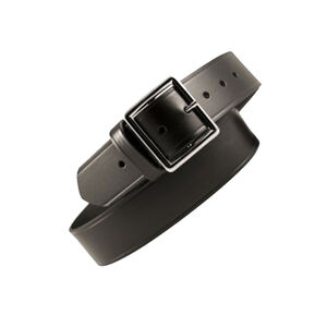 "Boston Leather Garrison Belt Value Line 1.75"" 34"" Waist Brass Buckle Leather Plain Black 6605-1-34B"