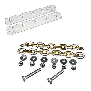 AR-Mor T-Post Hanger Kit Two Post Brackets/12 Link Chains/Bolt/Nuts/Washers Zinc Plated Natural Finish