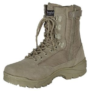 "Voodoo Tactical 9"" Tactical Boots Nylon/Leather Size 9.5 Regular Khaki Tan 04-837883095"