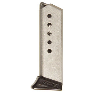 Excel Arms Accu-Tex AT-380II/LT-380 Magazine 380 ACP 6 Rounds Stainless Steel Polymer Finger Extension