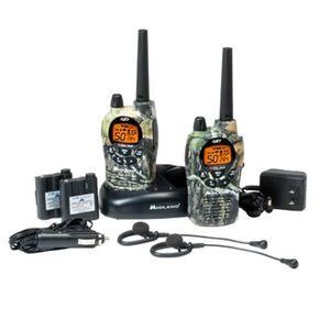 Midland GTX Walkie Talkie 1050 FRS/GMRS 50 Channel 36 Miles Value Pack Mossy Oak Rechageable