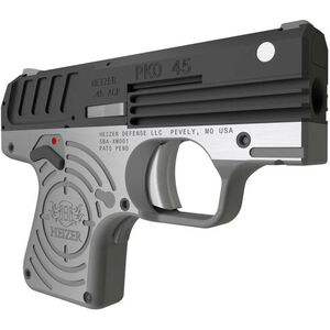 """Heizer Defense PKO-45 .45 ACP Semi Auto Pistol 2.75"""" Barrel 7 Rounds Stainless Steel with Black/Stainless Finish"""