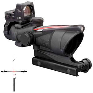 Trijicon ACOG TA31RMR 4x32 Rifle Scope Illuminated Red Crosshair .223 Ballistic Reticle 1/2 MOA with TA51 Mount and RMR 7.0 MOA Sight Aluminum Black TA31RM04