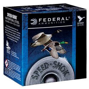 "Federal Speed-Shok Waterfowl 12 Gauge Ammunition 250 Rounds 2-3/4"" #3 Steel Shot 1-1/8oz 1500fps"