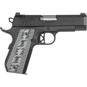 "Dan Wesson 1911 ECP 9mm Luger Semi Auto Pistol 4"" Bull Barrel 9 Rounds Commander Sized Profile G10 Grips Black Duty Finish"