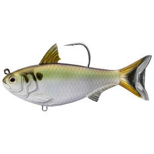 "Live Target Lures Gizzard Shad Swimbait 4.5"" #6/0 Hook Medium-Slow Green/Bronze"