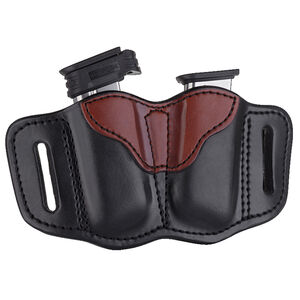 1791 Gunleather Single Stacked Magazine Double Magazine Pouch 2.1 OWB Ambidextrous Leather Black/Brown
