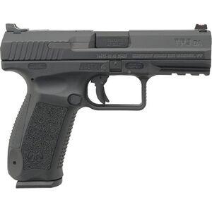 "Century Arms TP9DA 9mm Luger Semi Auto Handgun 4.07"" Barrel 18 Rounds Interchangeable Grips Polymer Black"