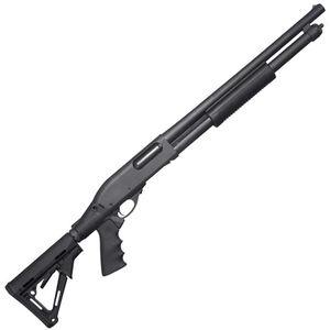 "Remington 870 Express Tactical Pump Action Shotgun 12 Gauge 18.5"" Barrel 3"" Chamber 6 Rounds Pistol Grip Collapsible Stock Black"