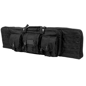 "VISM Double Carbine Soft Case 36"" Heavy Duty 600D PVC Black CVDC2946B-36"