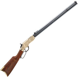 """Henry Original Deluxe Engraved 3rd Edition .44-40 Win Lever Action Rifle 24.5"""" Octagon Barrel 13 Rounds Hardened Brass Receiver Walnut Stock Blued"""