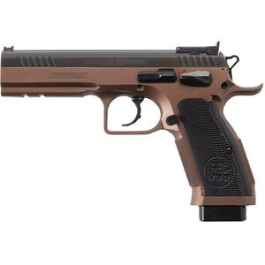 "EAA Tanfoglio Witness Stock III Xtreme 9mm Luger Semi Auto Pistol 4.5"" Barrel 17 Rounds Tan Steel Frame Duo-Tone Finish"