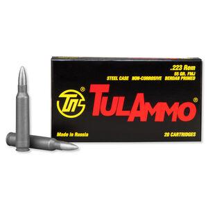 TulAmmo .223 Remington Ammunition 55 Grain Zinc FMJ 3241fps