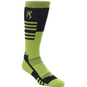 Browning Unisex Elm Socks Large Calf Height Polyester Black and Green
