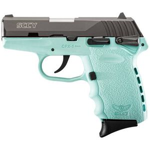 """SCCY Industries CPX-1 Semi Auto Handgun 9mm Luger 3.1"""" Barrel 10 Rounds Blue Polymer Frame with Black Nitride Finish CPX-1 CBSB"""