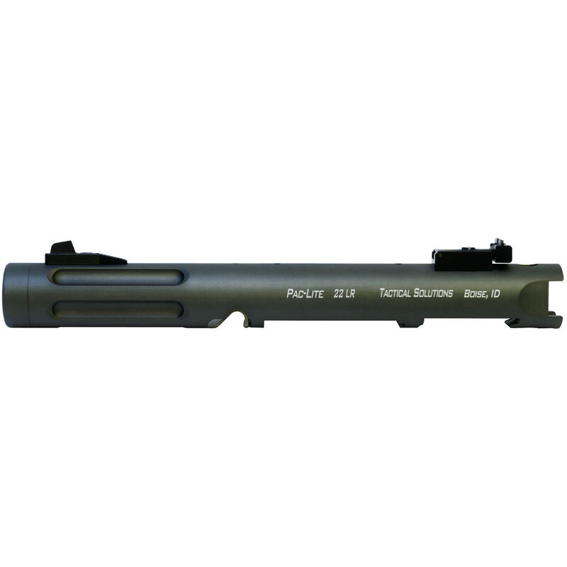 "Tactical Solutions Pac-Lite IV 4.5"" Threaded Fluted Barrel Ruger Mark IV or Ruger Mark IV 22/45 Aluminum Matte OD Green"