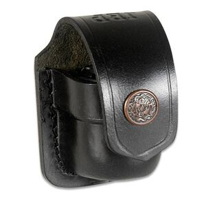 "JBP Single Speed Loader Case Fits .357 and .44 Magnum Black Leather Pouch  Fits up to 1 3/4"" Belt"