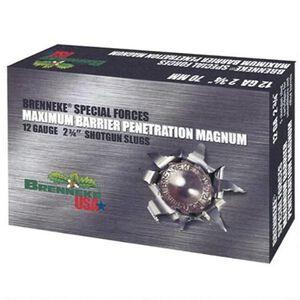 "Brenneke 12 Gauge Special Forces Maximum Barrier Penetration Magnum Ammunition, 5 Rounds, 2 3/4"""