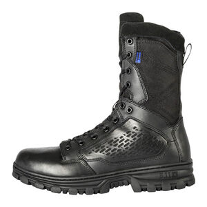 "5.11 Tactical EVO 8"" Waterproof Boot with Sidezip Size 12 Regular Black 12312"