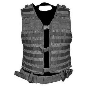 VISM PAL Modular Vest MOLLE Compatible with Pistol Belt Nylon Black CPV2915B