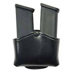 Don Hume Snap On Double Magazine Pouch Double Stack Mags Leather  Black