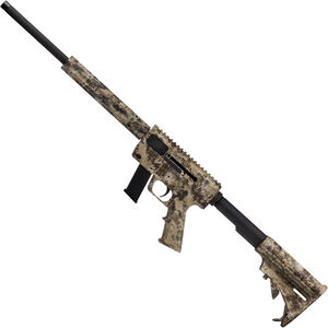 """Just Right Carbine Takedown Combo Semi Auto Rifle 9mm 17"""" Barrel 17 Rounds with Sling Pack Tube Style Forend Kryptek Highlander"""