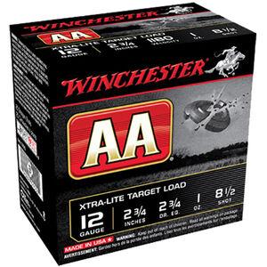 "Winchester USA AA Xtra-Lite Target Load 12 Gauge Ammunition 2-3/4"" #8.5 Lead Shot 1 oz 1180 fps"