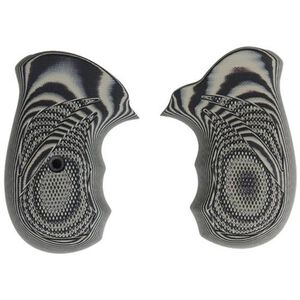 Pachmayr Dominator Ruger SP101 Grips G10 Checkered Grey/Black