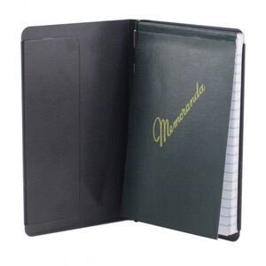 "Saunders MFG. Padfolio with Writing Pad 3.5""x5.5"" Aluminum Black"