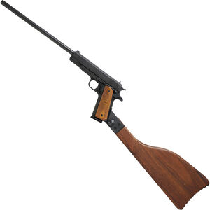 "Iver Johnson 1911A1 Carbine Semi Auto Rifle .45 ACP 16.125"" Barrel 8 Rounds Walnut Grips Black Finish"