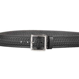 "DeSantis Econoline Garrison Belt 1.75"" Leather Nickel Buckle Size 32 Basket Weave Black"