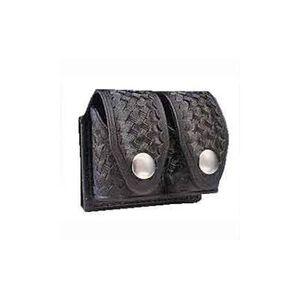 HKS Large Speedloader Carry Case Dupont Hytrel Basketweave Black 203LBB