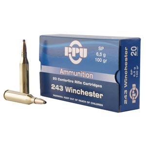 Prvi Partizan .243 Winchester Ammunition 20 Rounds SP 100 Grains
