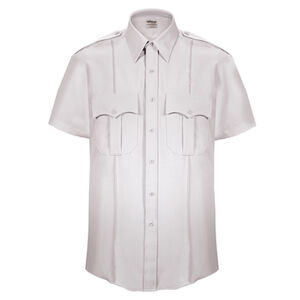 Elbeco Textrop2 Men's Short Sleeve Shirt Neck 17.5 100% Polyester Tropical Weave White