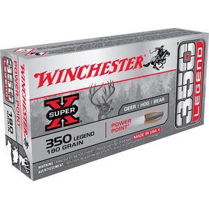 Winchester 350 LEGEND Ammunition 200 Rounds JSP Power Point 180 Grains
