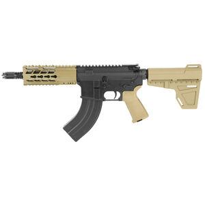 "Diamondback Firearms DB15 AR-15 7.62x39 Semi Auto Pistol 7"" Barrel 28 Rounds Free Float Hand Guard Shockwave Blade Stabilizing Brace Flat Dark Earth"