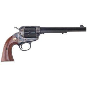 """Cimarron Bisley Single Action Revovler .45 Long Colt 7.5"""" Barrel 6 Rounds Walnut Grips Case Hardened Frame Blued CA614"""