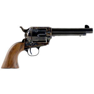 """Standard Manufacturing .45 Long Colt Single Action Revolver 4.75"""" Barrel 6 Rounds Fixed Sights Two Piece Grip Color Case Hardened Frame Blued Finish"""